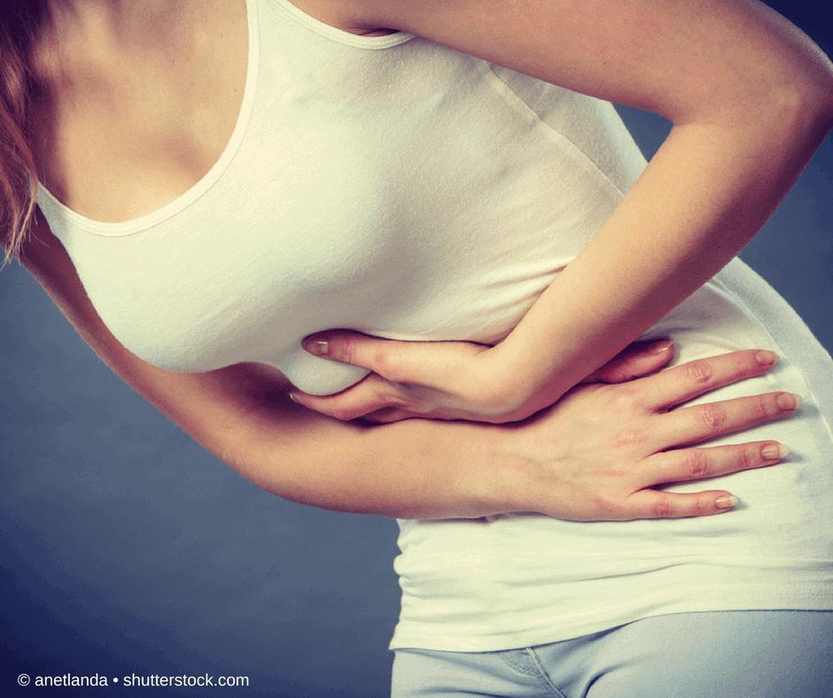 Laktoseintoleranz Frau mit Bauchkrämpfen