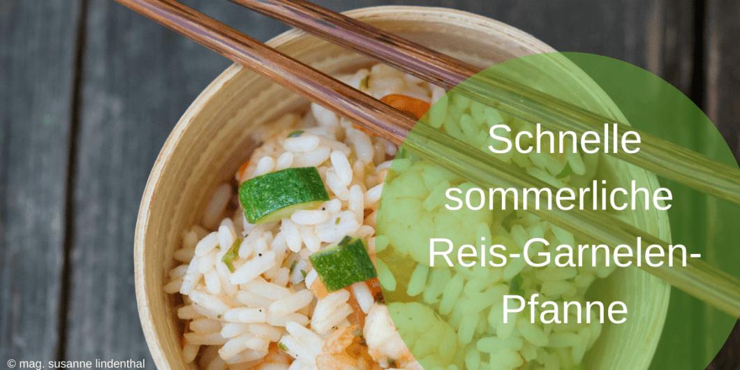 Schnelle sommerliche Reis-Garnelen-Pfanne-titel