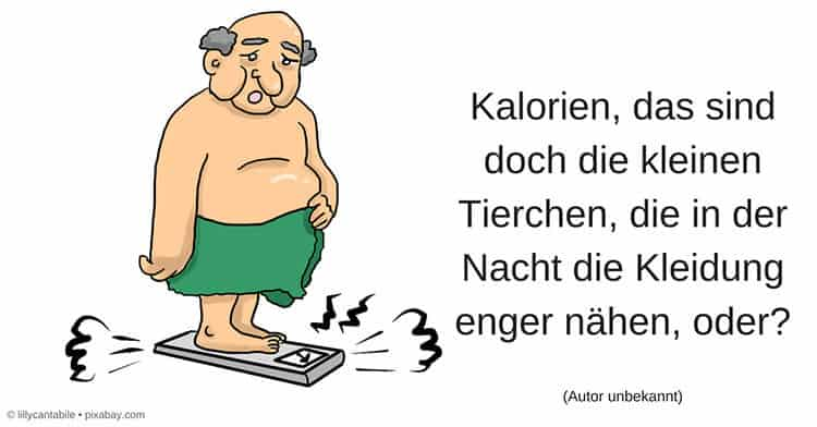 Graphik Mann mit Übergewicht auf Waage