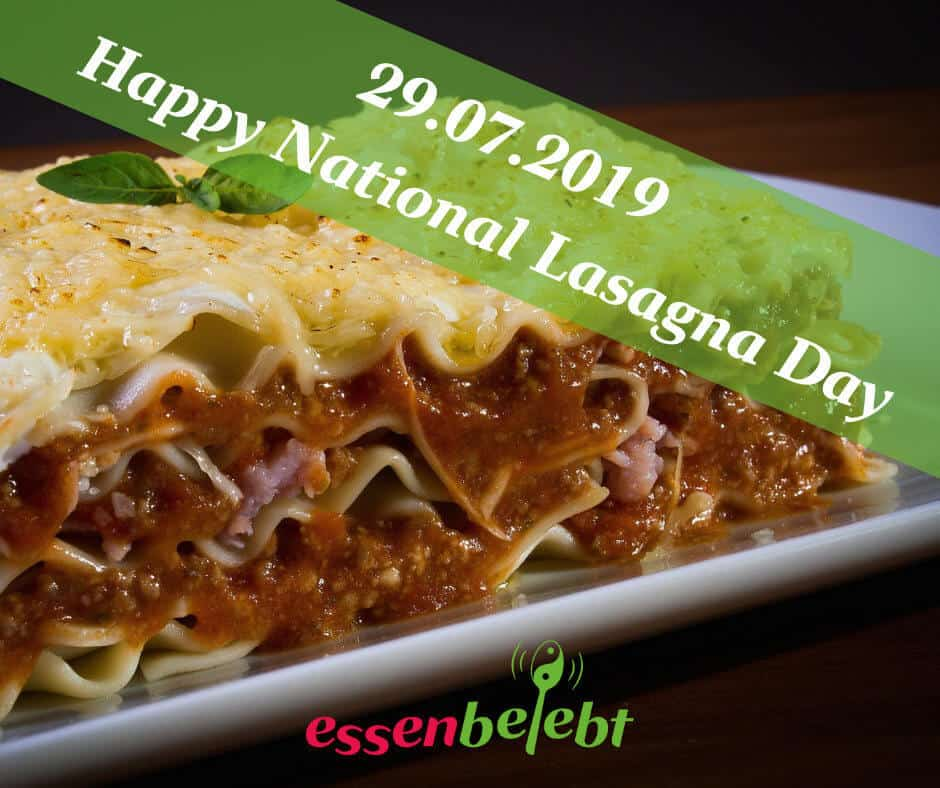 das Lasagne-Konzept-Tag der Lasagne