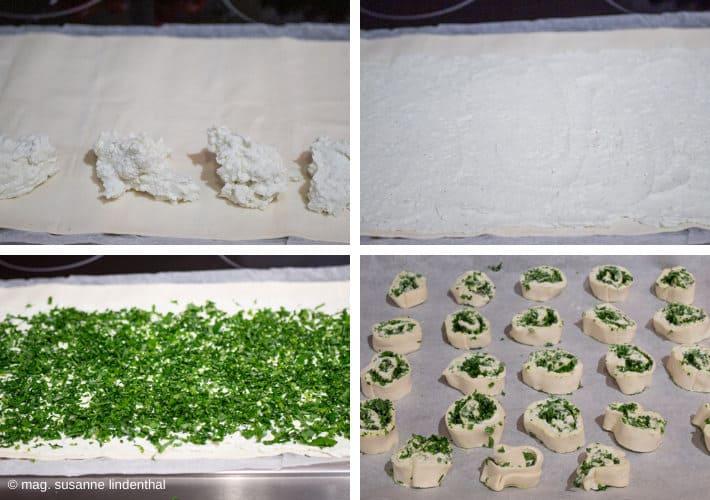 Blätterteig-Fetaaufstrich-Bärlauch
