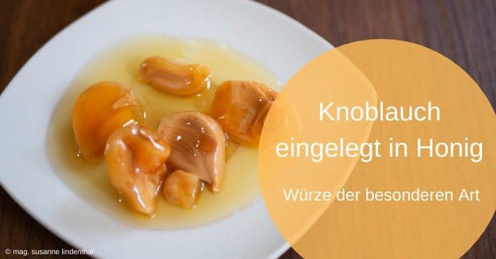 In Honig eingelegter Knoblauch - Titelbild