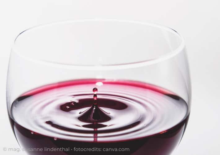 Ein Glas Rotwein ein besonders guter